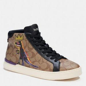 COACH X JEAN-MICHEL BASQUIAT Clip High Top Sneaker